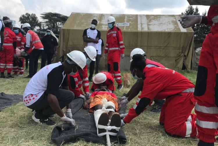 Kenya Red Cross UoN Chapter in the First Aid  Competition Sarturday 30th May 2021.