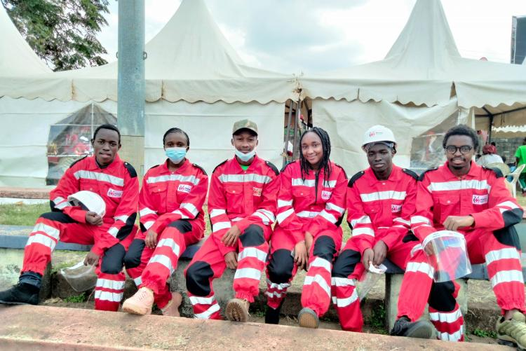 Kenya Red Cross  UoN chapter team